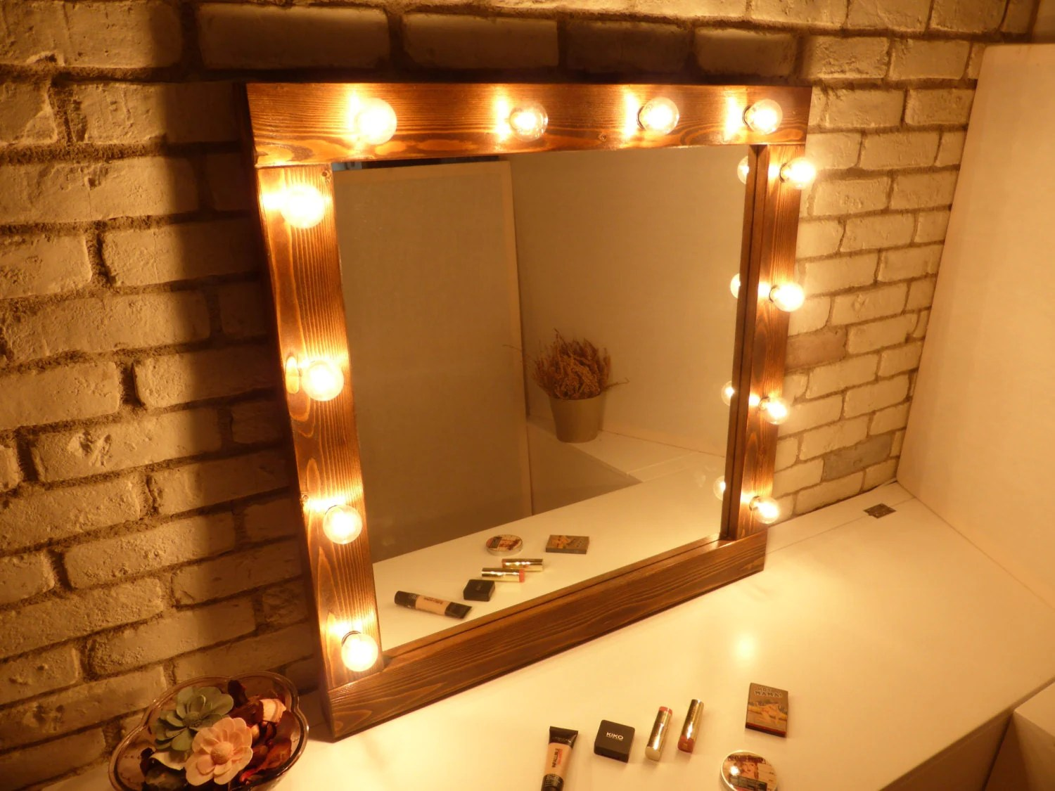 Hollywood Mirror Lights Ikea Hollywood Mirror With Lights Rustic Mirror Makeup Mirror