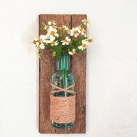 Rustic wall vase wall sconce wall flower vase by HadleyAndRuth