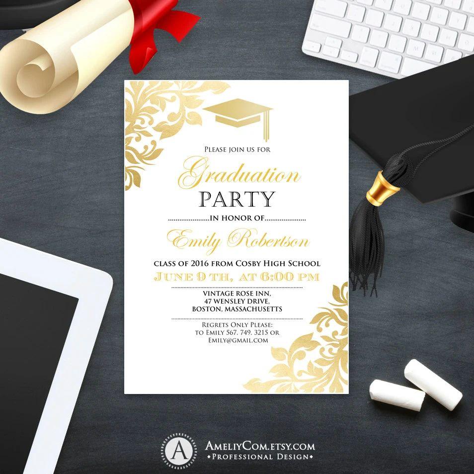 college graduation invitation templates