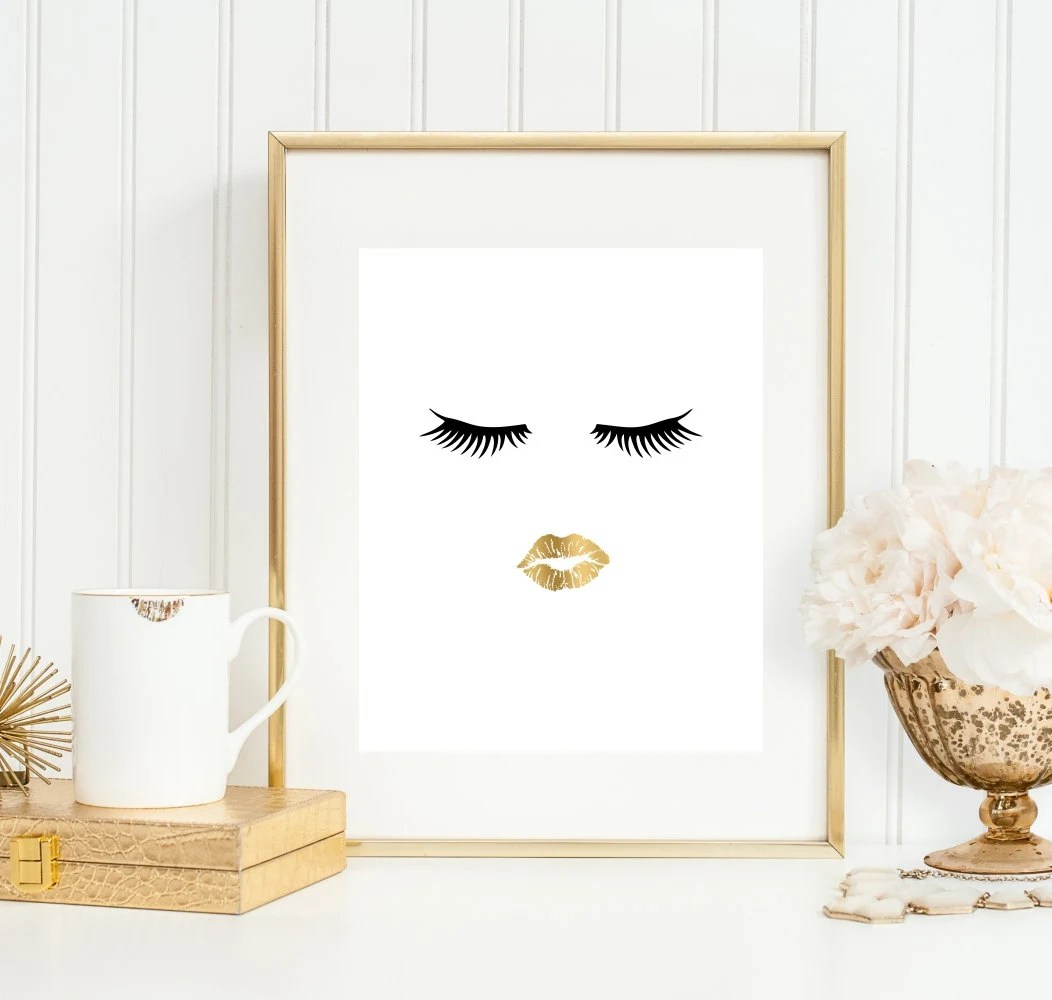 Bathroom Wall Art And Decor Bathroom Wall Art Bathroom Art Print Makeup Art 5x7 8x10