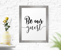 Typography Poster Be Our Guest Wall Art Printable Art