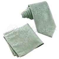 Pastel Mint Green Paisley Floral Pattern Italy Design Necktie