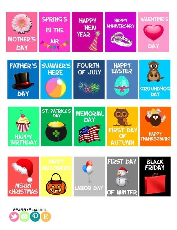 Us Calendar Of Fun Holidays 2017 Holidays 2017 Calendar Of Events Teaching Ideas Printable Holiday Stickers