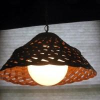 Woven Wicker Swag Lamp Rattan Swag Lamp White Glass Globe