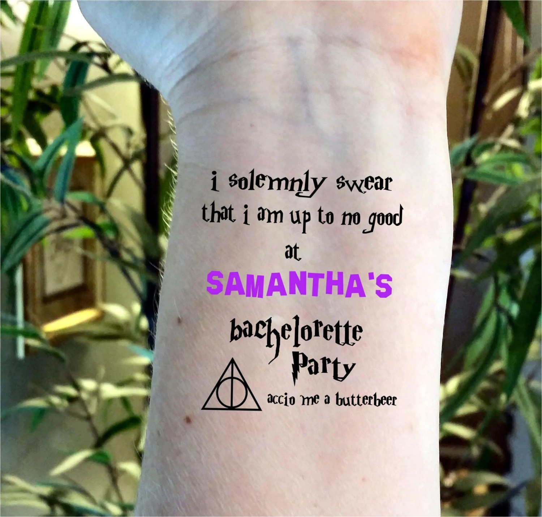 harry potter wedding harry potter wedding bands Bachelorette tattoo Bachelorette party tattoo Harry Potter tattoos Harry Potter Bachelorette tattoos custom tattoos wedding tattoos