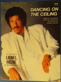 Dancing On The Ceiling vintage sheet music by Lionel Richie