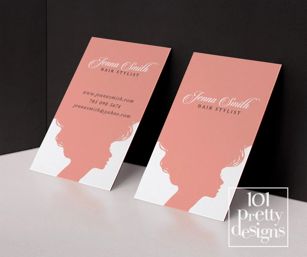 Hair stylist business card template printable business card design