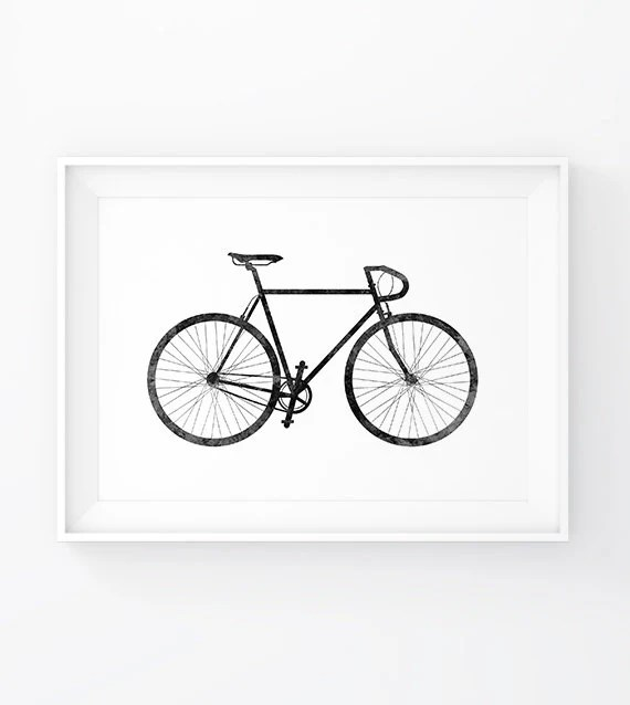 Poster Fahrrad Bike Prints Posters Bike Wall Prints Bike Poster By Mgddesign