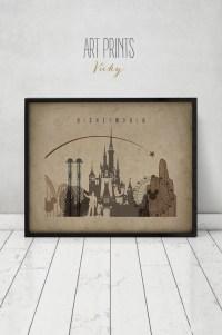 Disney World print Disney world Wall Art Travel Poster