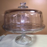 Vintage Covered Footed Cake Plate Cake Stand Cake pedestal