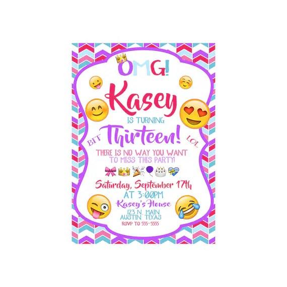 Emoji Printable Birthday Invitations Page Four Birthday Wikii