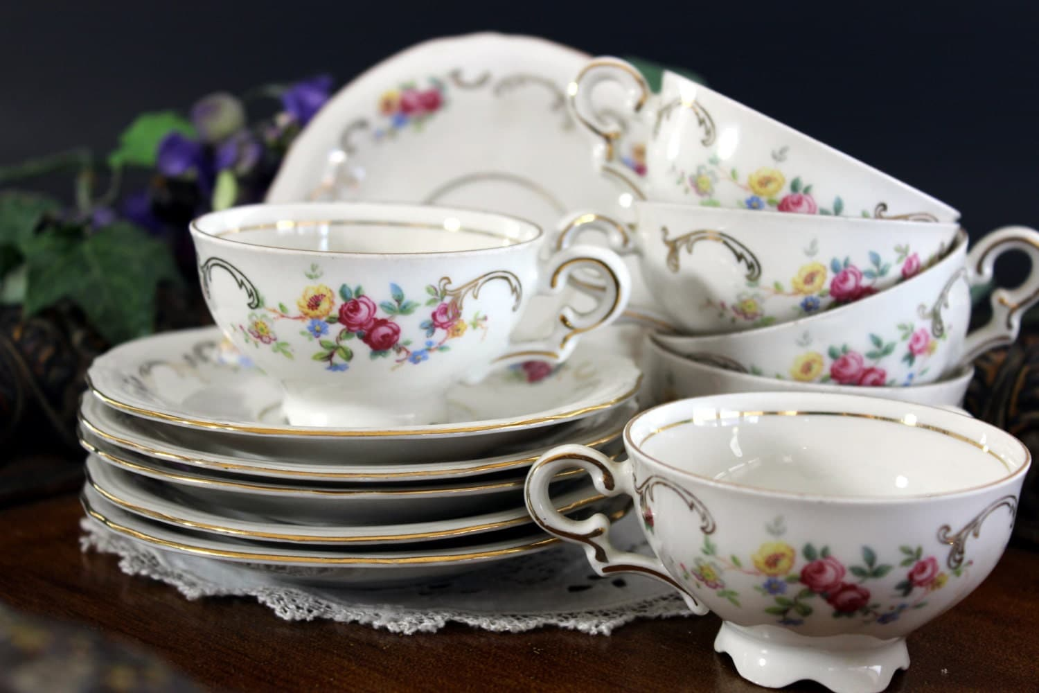 Demitasse Cups Small Tea Cups And Saucers European