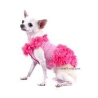 Dog Dress Pink Dog Clothes XXS Beach Summer Pet Clothing Puppy