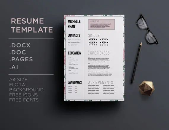 cv background template