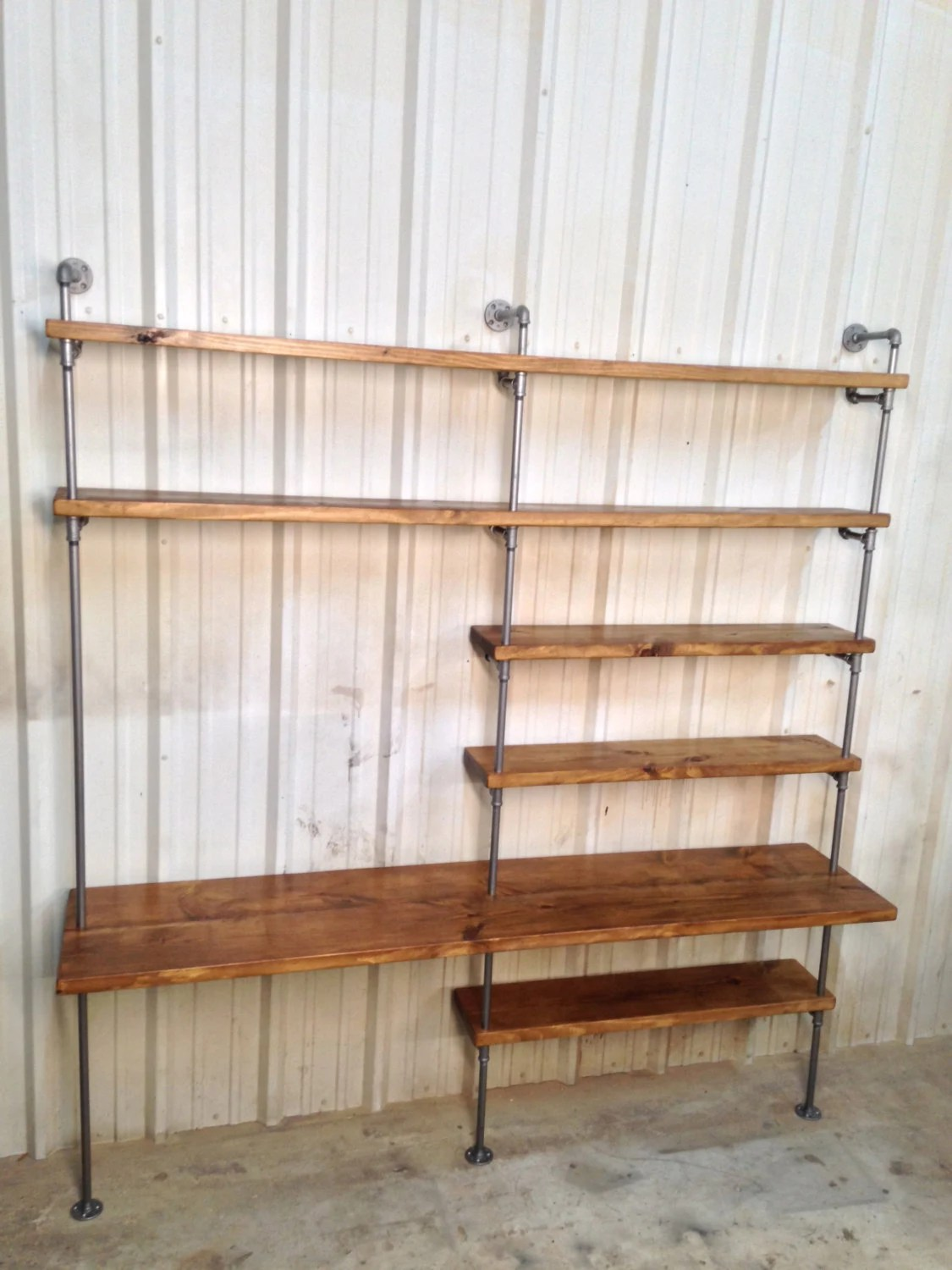 Industrial Wall Shelving Units Industrial Desk Industrial Bookcase Bookshelves Urban