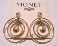 Monet Triple Hoop Clip On Earrings Gold by ...