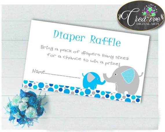Baby Shower Aqua Baby Shower Tusks Diaper Raffle Win A Prize DIAPER