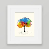 Colorful Wall Art Colorful Tree Art Tree Printable Wall