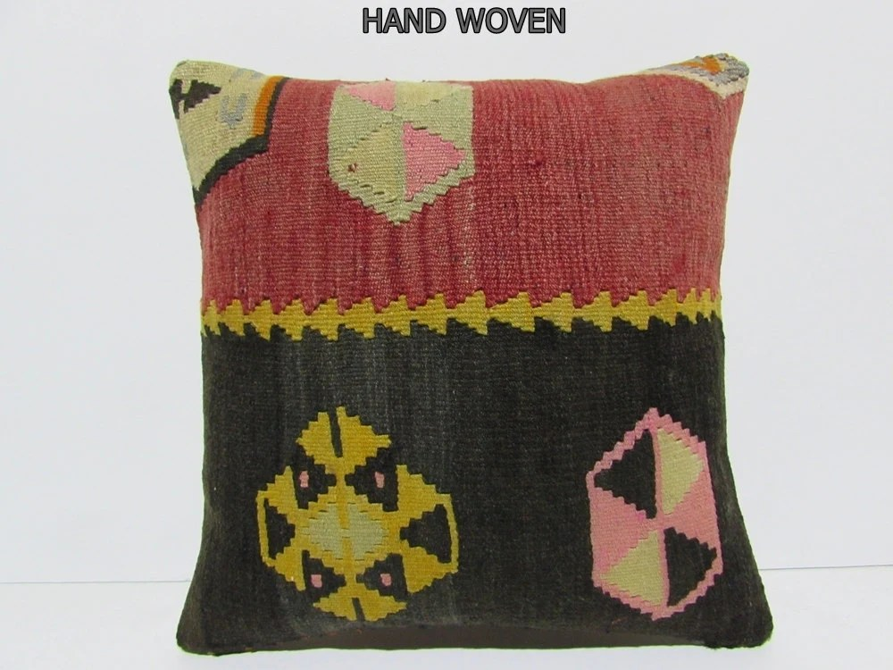 Moroccan Cushion Cover 18x18 Decorative Pillow Upholstery