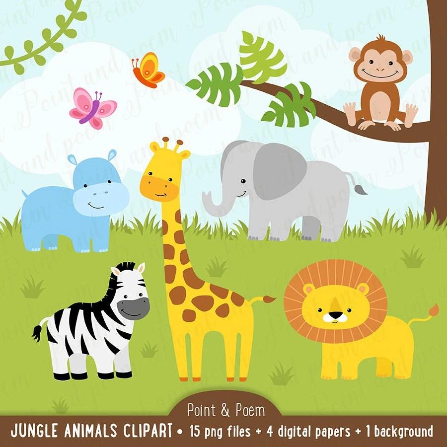 Fall Woodland Creatures Wallpaper Clip Art Baby Jungle Animals Www Pixshark Com Images