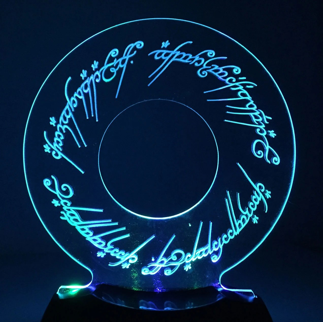 The One Ring Led Nightlight Or Desk Lamp Lord Of The Rings