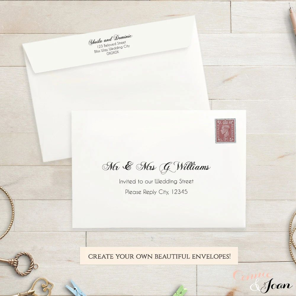rsvp wedding card size