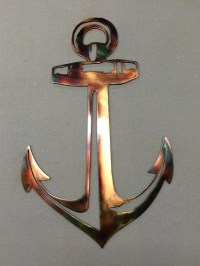 Items similar to Metal Wall Art Plasma Anchor Home Decor ...