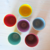 Set of six espresso cups Colorful espresso cups by PotsbyNives