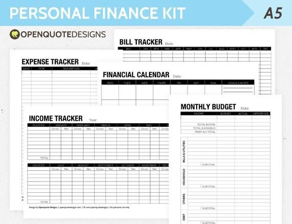 Home Finance Home Finance Organizer Template