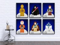 Star Wars Wall Print Star Wars Wall Art Star Wars Nursery