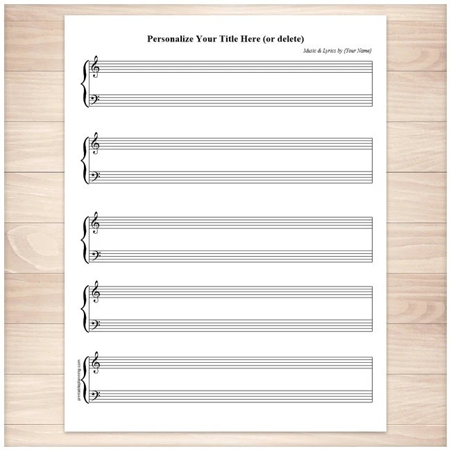 print out blank music sheet xv-gimnazija