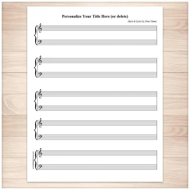 Blank Music Paper To Print \u2013 Music
