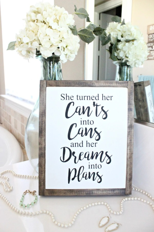 Dreams Quote Wood Sign | ...