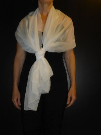 White Chiffon Wrap Shawl Scarf