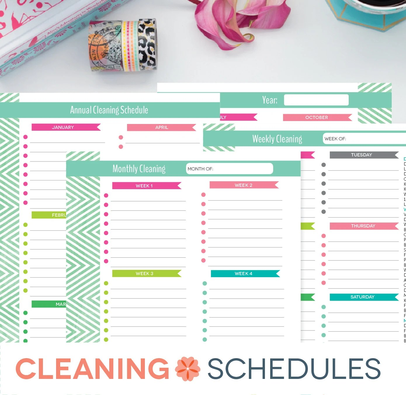Cleaning Schedule Printable Weekly Monthly Yearly Clean - weekly checklist