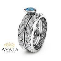 blue topaz wedding ring set   Wedding Wallpaper