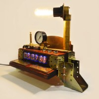Nixie tube clock nixie clock steampunk lamp by ...