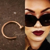 Small Rose Gold Helix ring Nose hoop. Nose ring by ...