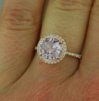 Rose gold engagement ring lavender purple by EidelPrecious ...