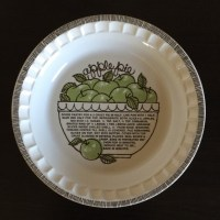 Vintage 1970s Ceramic Apple Pie Plate Jeannette Royal China