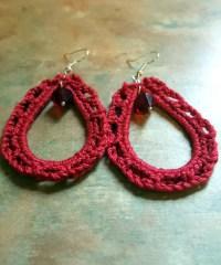 Lovely Crochet Hoop Earrings by WolfMountainJewelry on Etsy