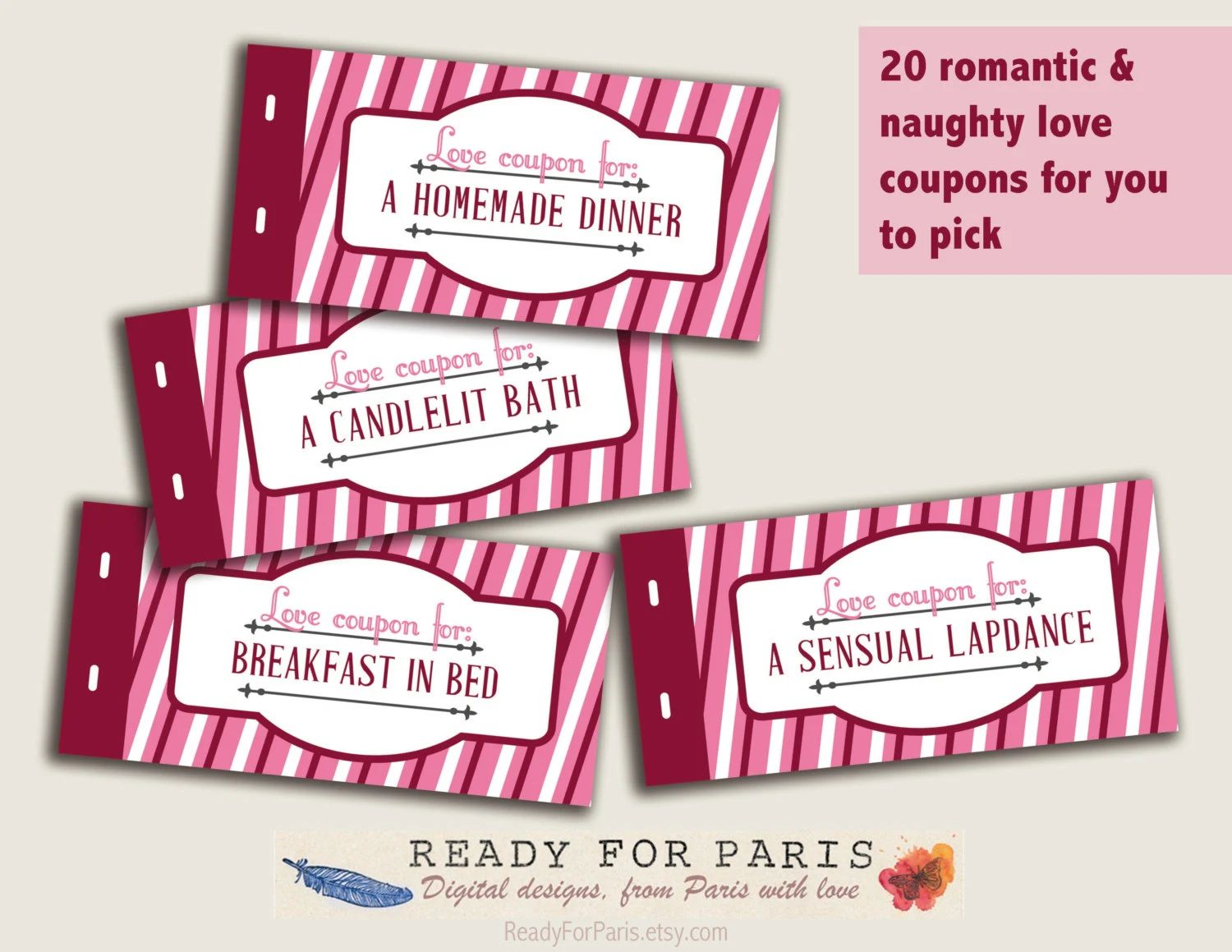 romantic coupon book template