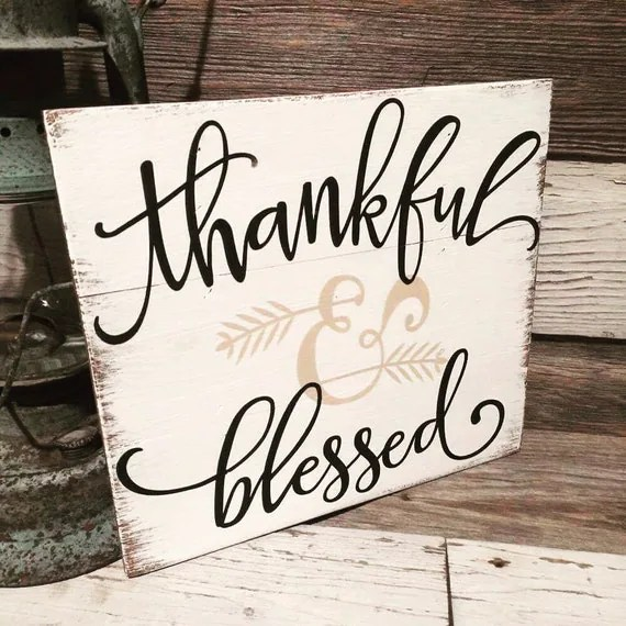 Cute Christian Pintrest Wallpapers Fall Sign Thankful And Blessed By Therusticraven15 On Etsy