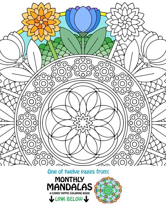 Mandala Da Colorare Pu Fiori Primavera Stampabile Da