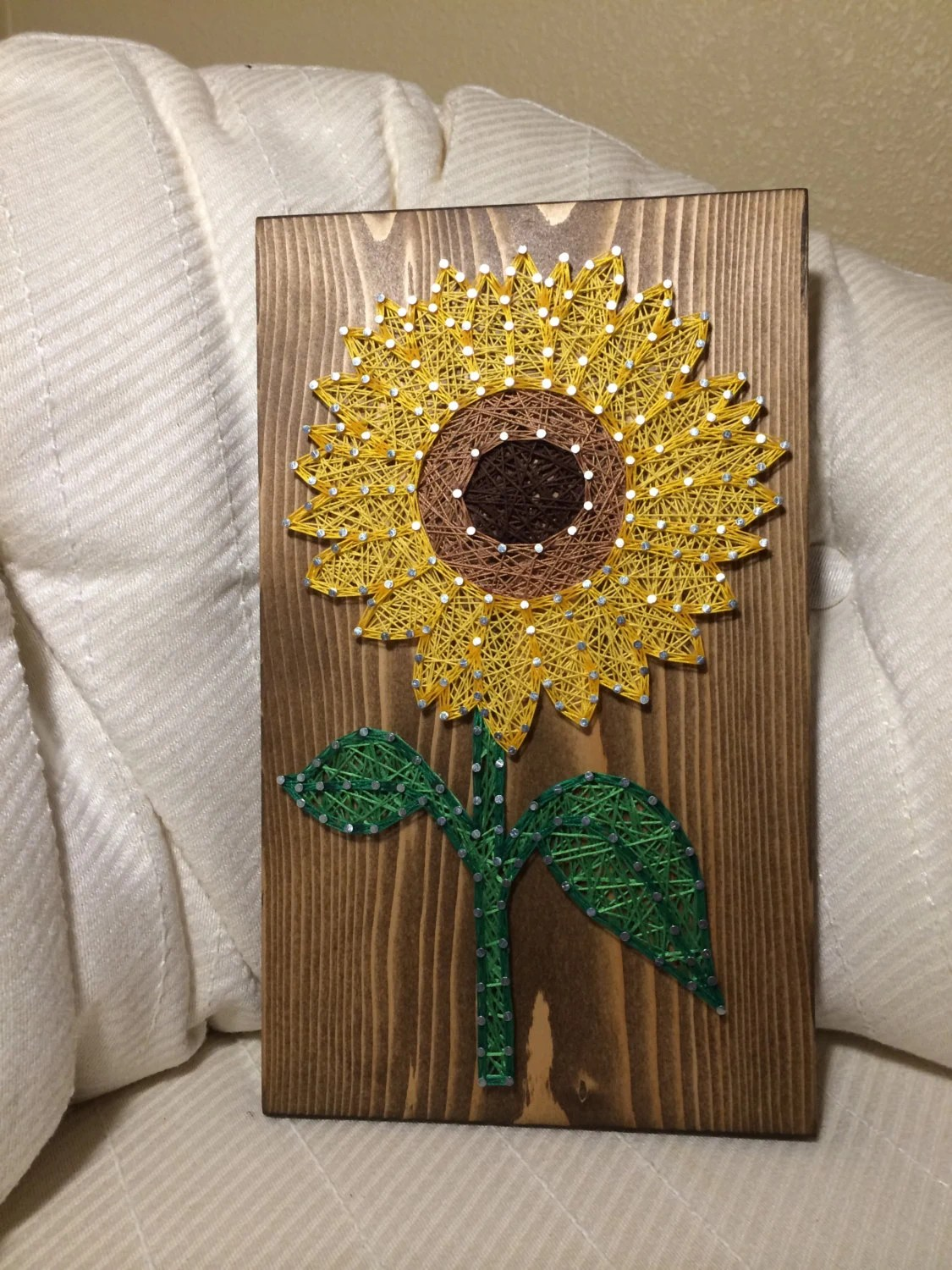 The Tile Shop Custom Sunflower String Art Sign Sunflower Wall Art By