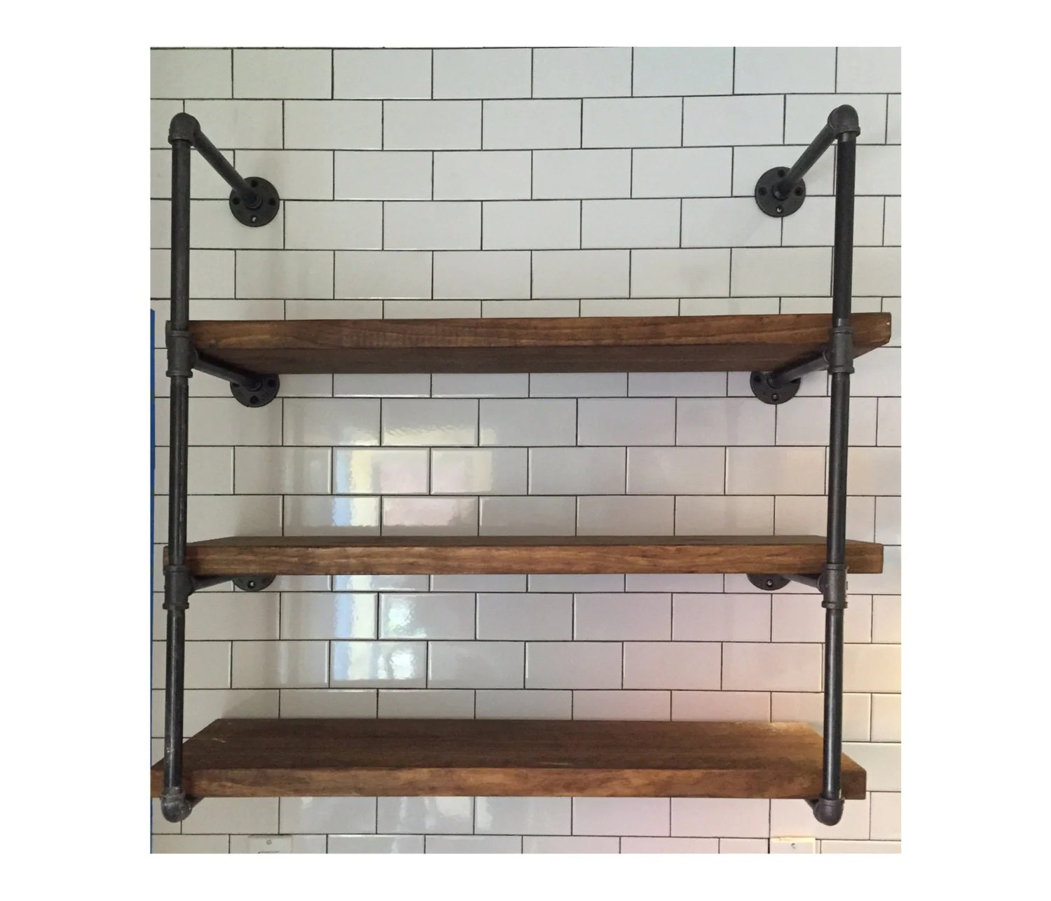 Industrial Wall Shelving Units Industrial Wall Unit 36 Wide With Three Shelves Urban