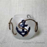Anchor Candle Holder Polymer Clay Candle Holder Anchor