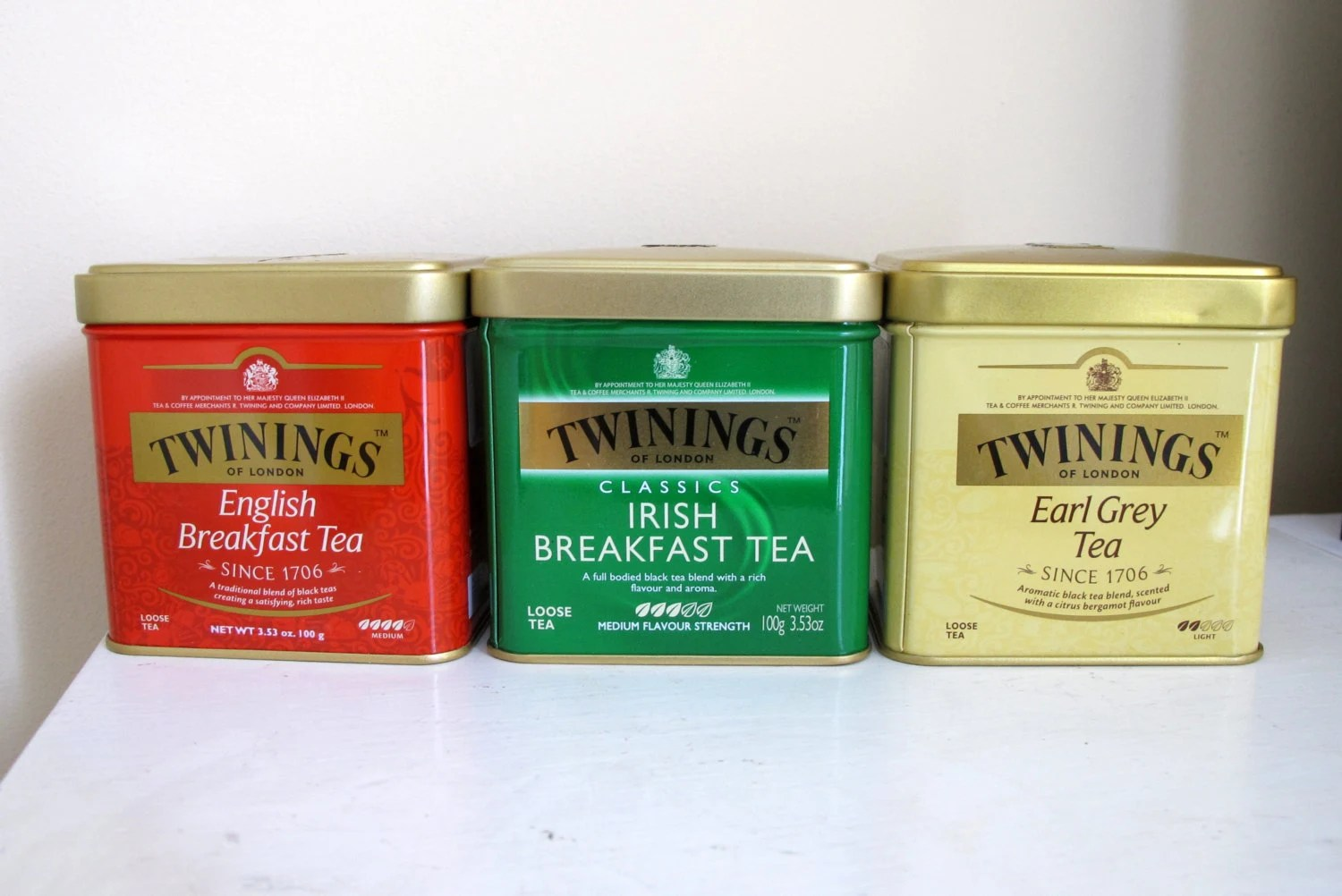 Tea Tins Empty Tea Tins For Use In Craft Projects Set Of 3