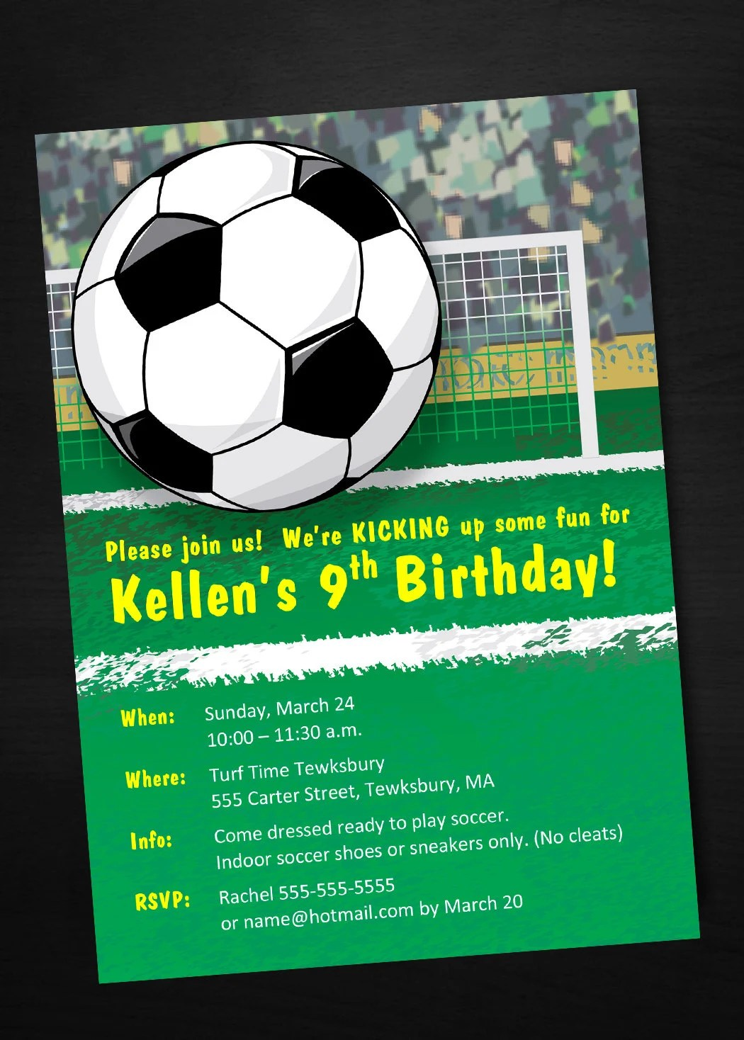 INSTANT DOWNLOAD Soccer Birthday Invitation, Printable, Customizable
