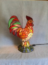 Rooster Lamp Accent Lamp Stained Glass